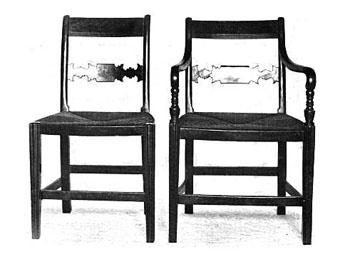Early 19th century rush seats